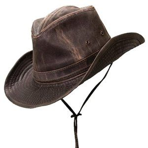 Men's Outback Hat with Chin Cord